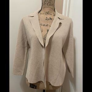 Chicos blazer jacket Gold open front Shimmery L
